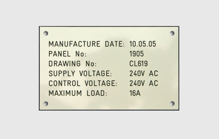 Interface Signage Rating Plates
